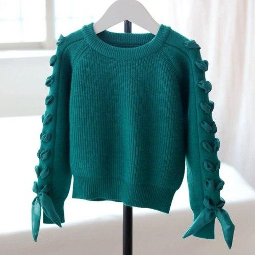 Winter Children Clothes Cotton Toddler Girls Cardigan Fashion Kids Knitted Sweater