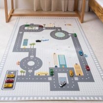Kids Play Game Mat Rectangle Carpet Car Track Rugs Road Print Crawling Mat Floor Carpet Baby Room Decoration