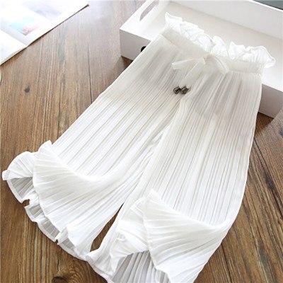 New Casual Wide Leg Pants Lace Chiffon Waist  Anti-mosquito Casual Pants