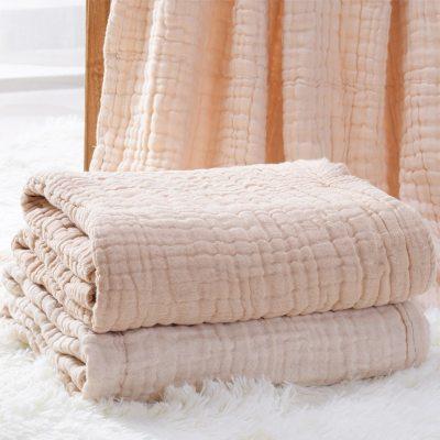 Baby Blankets Newborn Blanket Swaddle Blanket Baby Blanket Gauze Muslin Swaddle Cotton Fabric 6 Layer