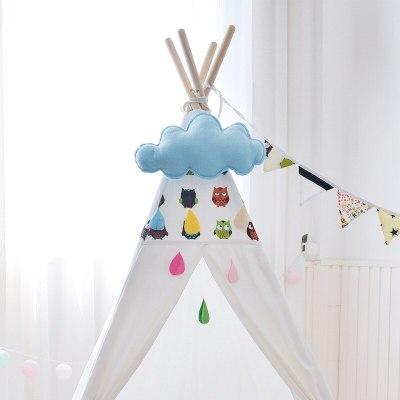 Children Tent Teepee Decorations Felt Cloud Raindrop Pendant Wall Hanging Nordic Kids Room Home Decor Photography Props