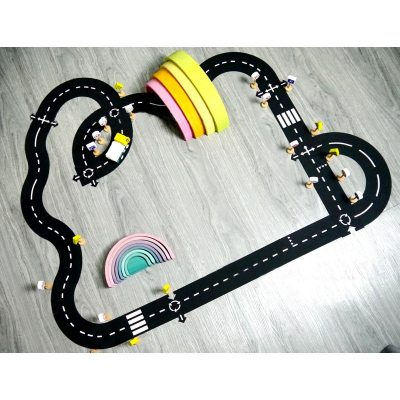 Nordic Kids Room Decor DIY PVC Puzzles Track Play Set Baby Puzzle Game Mat Floor Carpet Educational Learning Toys