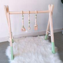 Nordic Style Cartoon Solid Wood Baby Kids Fitness Rack Children Room Decoration