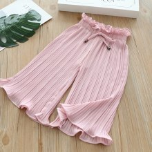 New Casual Wide Leg Pants Lace Chiffon Waist  Anti-mosquito Casual Pants