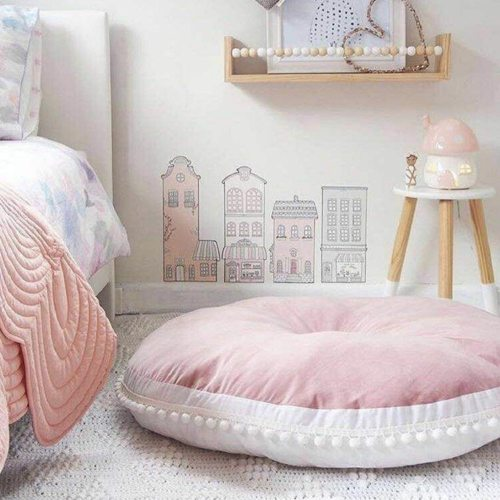 90CM Round Cushion Pad Home Decor Seat Cushion Kids Pillow Stuffed Thick Cotton Play Pad Crwaling Mat Floor Rug