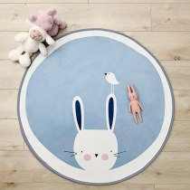 Round 100CM Kids Rug Play Mats Baby Gym Activity Crawling Mats Nordic Room Floor Carpets