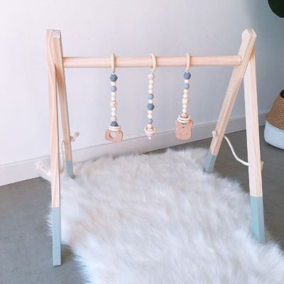 Nordic Style Cartoon Solid Wood Baby Kids Fitness Rack Children Room Decoration