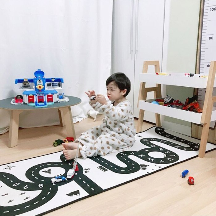 Kids Road Mat Carpet Room Baby Play Mat Floor Rugs Crawling Developing Mat Non-slip Nordic Decor