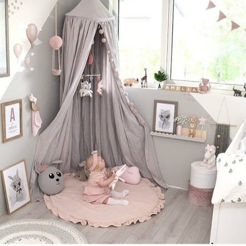 Nordic Newborn Baby Padded Play Mats Soft Cotton Crawling Mat Round Floor Carpet Room Decor