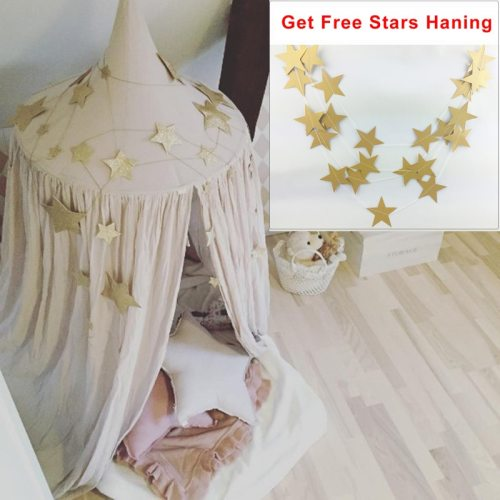 Children Room Decor Round Hung Dome Mosquito Net Play Tents for Kids Canopy Bed Curtain Baby Hanging Tent