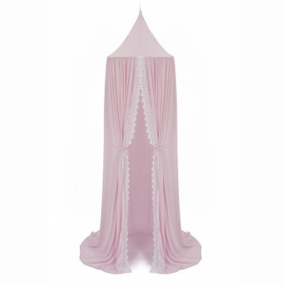 Bed Canopy for Girl Baby Crib Bed Curtain with Lace Kids Play Tent House Dome Hanging