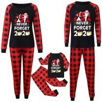 Letter Printed Christmas Family Matching Clothes Pajamas Xmas Long Sleeve Top and Printed Pants Family Clothes Pajamas Outfits