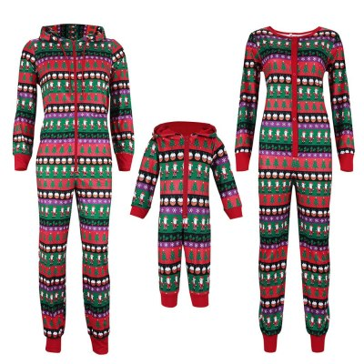 Christmas Family Matching Clothes Christmas Romper Jumpsuit Family Print Matching Pajamas Sleepwear Outfits Sets