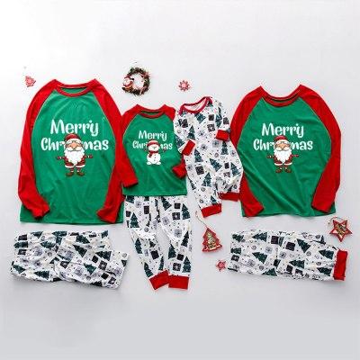 Merry Christmas Family Matching Pajamas Clothes Set Christmas Printed Xmas Family Matching Pajamas Set
