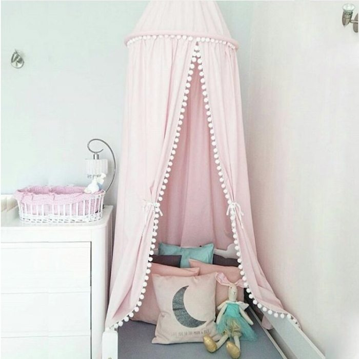 Cotton Baby Canopy Mosquito Net Girls Princess Bed Curtains Children Play Tents Kids Room Decoration