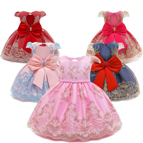 Baby Baptism Dress 1 Year Birthday Baby Girl Dress Infant Party Princess Costume Flower Girl Wedding Evening Ball Gown dress