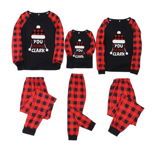 Christmas Man Daddy Print Blouse Tops And Pants Xmas Family Clothes Pajamas Parent-child Set