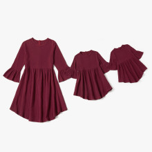 Mother Daughter Dresses Winter Matching Dress Mommy And Me Clothes Family Look Loose Outfits