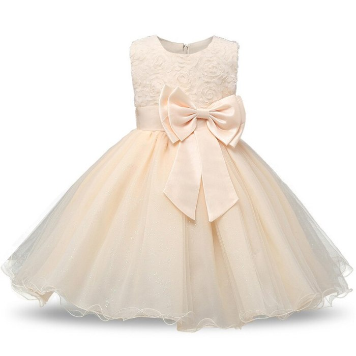 1 Years Birthday Toddler Girl Baptism Dress Lace Floral Costume Newborn Baby Princess Christening Wear Dresses