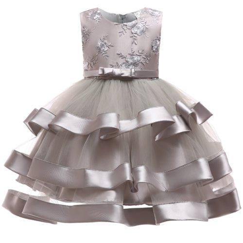 Girls Embroidery Princess dress fringe wedding dress