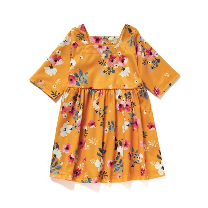 Mother Daughter Floral Dress Mommy And Me Long Sleeve Long Dresses Family Matching Clothes Family Look Dresses Outfits