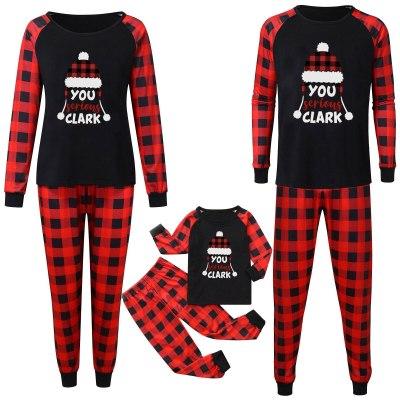 Christmas Man Daddy Print Blouse Tops And Pants Xmas Family Clothes Pajamas Parent-child Set