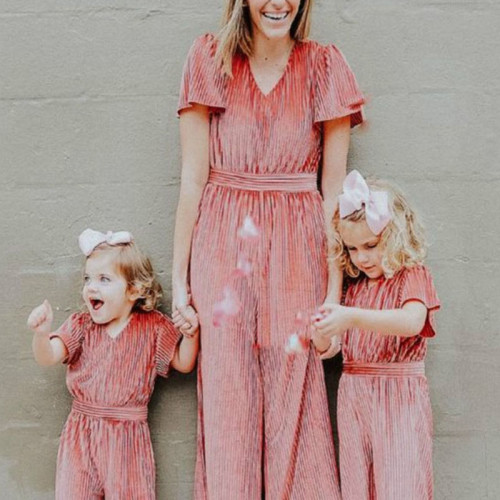 Mommy and Me Clothes Family Matching Clothes Jumpsuits Pants Mother Baby Girl Rompers