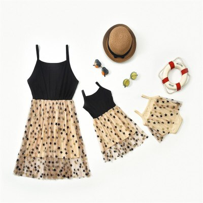 Mommy And Me Clothes Family Look Sleeveless Dress Family Matching Clothes Outfit