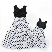 Family Matching Clothes Polka Dot Family Look Mom and Daughter Dresses
