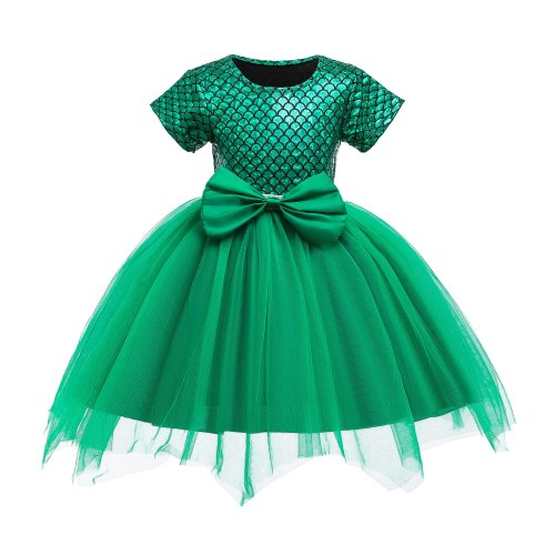 Mermaid Scale Girls Princess dress Costume tutu dresses