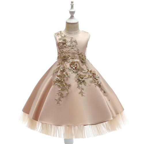 Embroidery Girls Dress Flower girls princess Dress