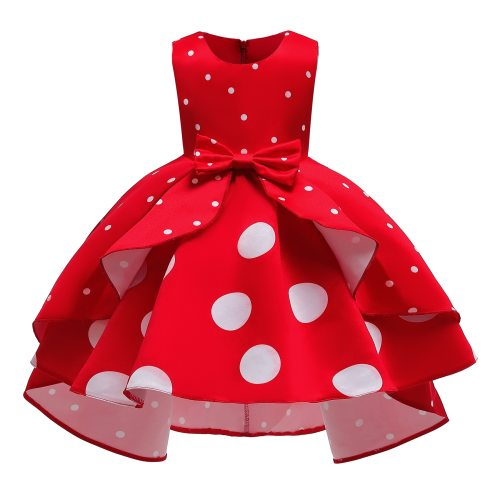 Girls Vintage Dot Printed dress for Party Christmas