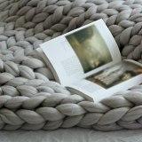 Chunky Knit Blanket Grey 40 x47