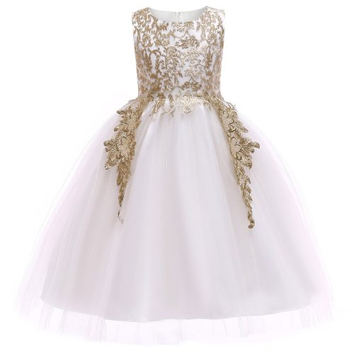 Elegant party Wedding embroidery Baby Girls princess Dresses