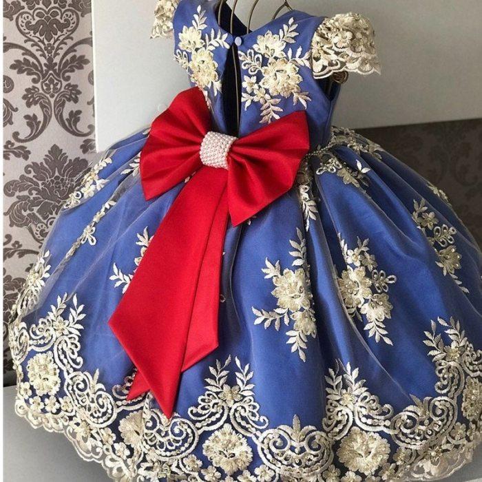 Girls Dress Princess Children Party Gown Kids Girls Birthday Party Dress