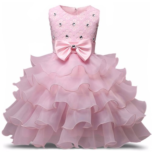 Flower Girl Dress Floral Baby Wedding Party Children Clothes