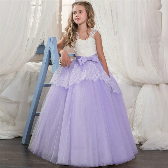 Flower Girl Lace Embroidery Party Dress