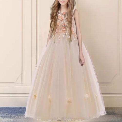 Long Bridesmaid Dress Flower Girls Princess Dress