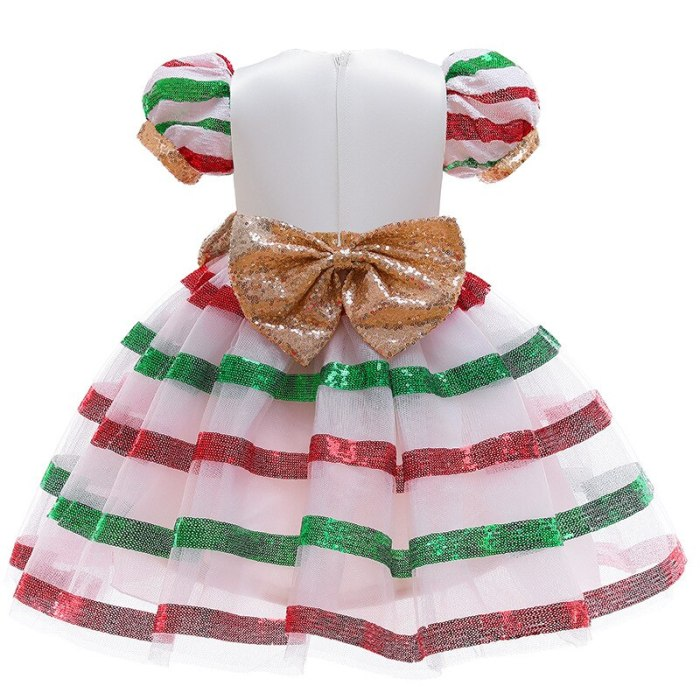 Girls' party Christmas candy dress sequined party dress
