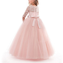 Princess Lace Dress Flower girls Embroidery Party Dress