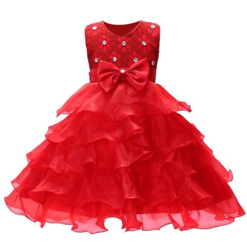 Kids For Children Dress Sleeveless Lace Bow Princess Flower Girl Dresses
