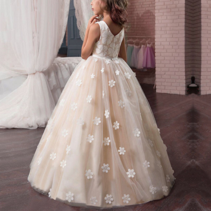 Vintage Flower Girls Dress for Wedding Evening Party Pageant