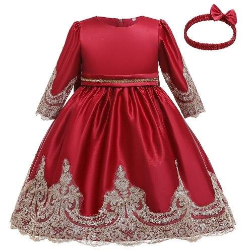 Girls' Flower Wedding Elegant High-low Hem  Dresses