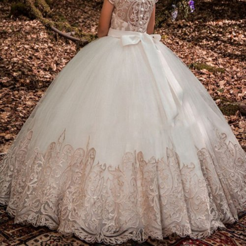 Lace Flower Girls Dresses For Wedding
