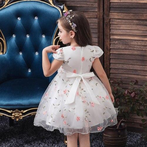 Flower Girls' Elegant New Princess  Embroidered Flower Girl Dress