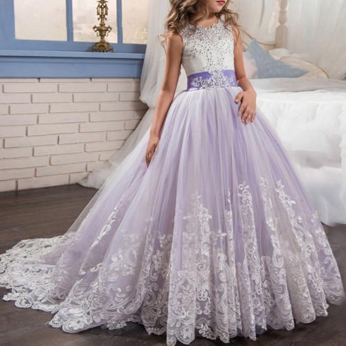 Girls Princess Party Dress Flower Girl Wedding Evening Gowns