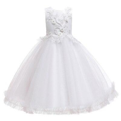 Girls Embroidery Flower Princess Dress