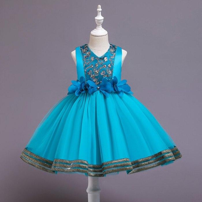 Princess Flower Girl Dress Wedding Birthday Party Dresses