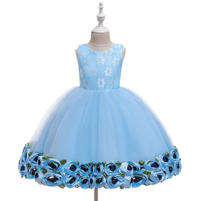Girl Christmas Dress  Children Ceremony Party Lace Embroidery