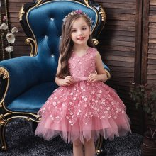 Girls Dresses Wedding Events Flower Birthday Party Costumes Children Clothing